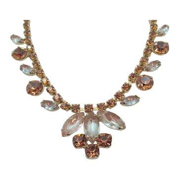 Stunning Saphiret Sappharine Rhinestone Necklace
