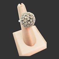 Christian Dior Crystal Rhinestone Dome Ring