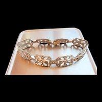1930s Art Deco Diamante Crystal Rhinestone Bracelet
