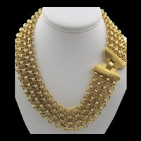 Monet Gold Plated Chunky Four Strand Chain Necklace
