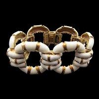 Ciner Enamel Gold Plated Link Bracelet