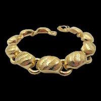 Christian Dior Gold Plated Brushed Bracelet