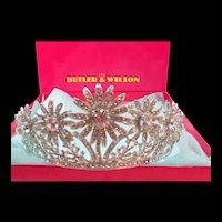 Wonderful Butler & Wilson Rhinestone Tiara in Original Box