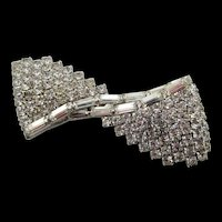 Kramer of New York Rhinestone Bowtie Brooch