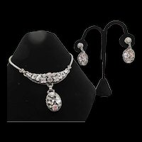 Kramer Crystal Rhinestone and Drop Earring Set