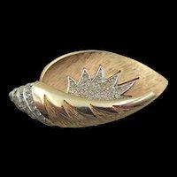 Kramer Diamante Crystal Shell Brooch