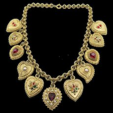 Lovely Vintage Butler and Wilson Heart Charm Necklace