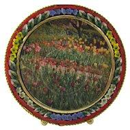 Vintage Round Micro Mosaic Italy Frame