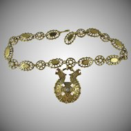 LAST CHANCE: French Designer Zoe Coste Etruscan Revival Couture Necklace