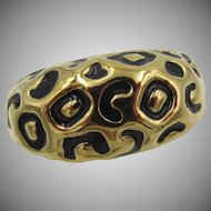 St John Couture Leopard Gold plated Ring in original box