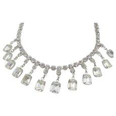 Joseph Wiesner NY Crystal Drop Rhinestone Necklace