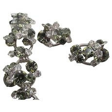 Delizza and Elster Juliana Five Link Rhinestone Bracelet and Earring Set