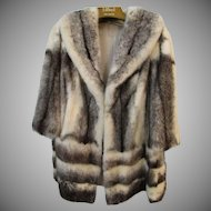 Vintage Cross Mink Fur Jacket B. Altman & Co.