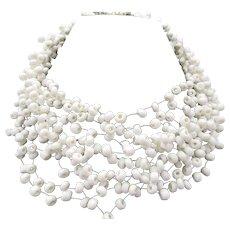 Vintage Signed Langani Designer Beaded Necklace - Red Tag Sale Item