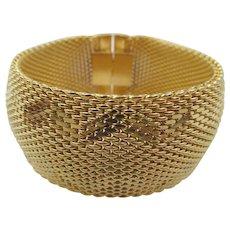 Vintage Napier Gold Tone Mesh Thick Bracelet - Red Tag Sale Item
