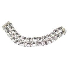 Vintage Art Deco Open Back Faceted Crystal Bracelet