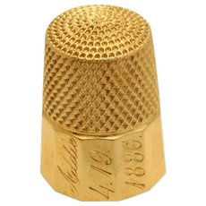 Antique 14k Yellow Gold Thimble 8