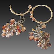 Brown Zircon Gemstone & 14k Gold Fill Earrings by Pilula Jula 'Brown Sugar Boogie'
