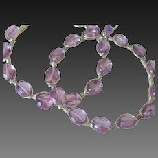 Gem Amethyst Hoop Earrings by Pilula Jula 'Ambitious'