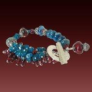 Apatite Garnet & Boro Cluster Bracelet by Pilula Jula 'Right to Fall'