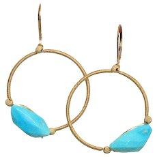 Sleeping Beauty 14k Gold Fill Earrings by Pilula Jula 'Vessels'