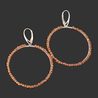 Sapphire Hoop Earrings by Pilula Jula 'manhattan moon'