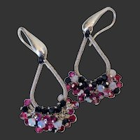 Swarovski Crystal Wire Wrapped Earrings by Pilula Jula 'Final Attraction II'