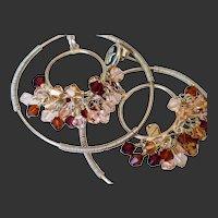 Swarovski Crystal Elements Double Hoop Earring by Pilula Jula 'Heartache Blvd'
