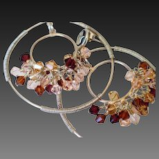 Swarovski Crystal Elements Double Hoop Earring by Pilula Jula 'Heartache Blvd'