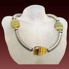 Fluorite Collar Necklace by Pilula Jula 'Time Won't Let Me'