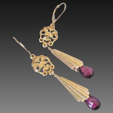 Rhodolite Garnet Gemstone Earrings by Pilula Jula 'Unleash the Pink'