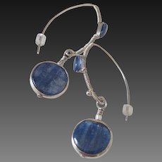 Kyanite Earrings by Pilula Jula 'Through the Deep II'