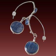Kyanite Earrings by Pilula Jula 'Through the Deep II'