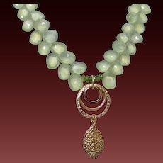 Prehnite Pendant Necklace by Pilula Jula 'Come Alive'