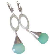 "Gem Chrysoprase Earrings by Pilula Jula 'Whirlwind"""