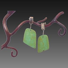 American Green Turquoise Trapezoid Earrings by Pilula Jula 'Flash Forward'