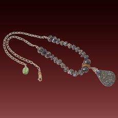 Pyrite & Gold Fill Pendant Necklace by Pilula Jula 'Astounded'