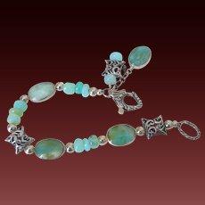 "Peruvian Blue Opal Bracelet by Pilula Jula 'Your Private Sky"""