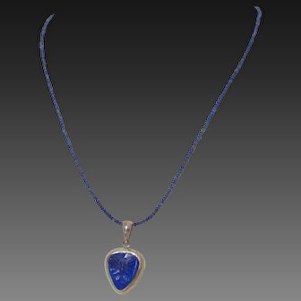 Genuine Lapis Butterfly Pendant Necklace by Pilula Jula 'Indigo Child'
