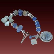 Tanzanite and Gray Moonstone Bracelet by Pilula Jula 'Wizards II'