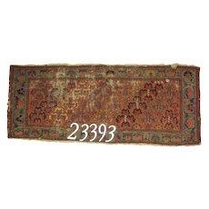 Antique Persian handmade Kurdish rug, approx. 1'-7X4'-1