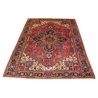Persian Handmade Heriz Rug Approx. 8'-6X12'-0