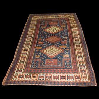 Russian Handmade Kazak Rug, Approx. 3'-10X6'-0