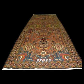 Persian Handmade Hamadan Rug, Approx. 5'-1-X17'-6