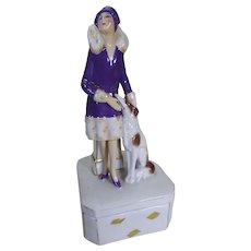 Art deco lady dressing table box.