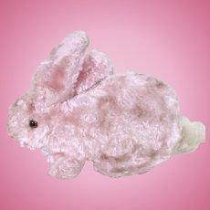 Chad Valley pink rabbit in art silk