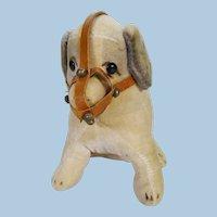 Velveteen dog. circa 1930's.