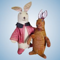 A pair of early rabbits circa 1912