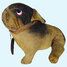Googly eyed Bully type comic dog. circa 1920's.