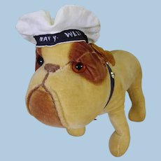Chad Valley Mint velvet bulldog circa 1930